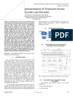 Design and Implementation of Transient Secure Encoder and Decoder