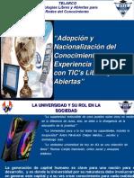 Adopción y Nacionalización de Conocimiento
