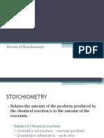 CHE112P Lecture 1 - Review Stoichiometry