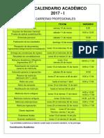 Calendario Académico Oficial 2017