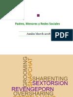 """Presentación Charla """"Padres, Menores y Redes Sociales"""".  Ausiàs March 2018"""