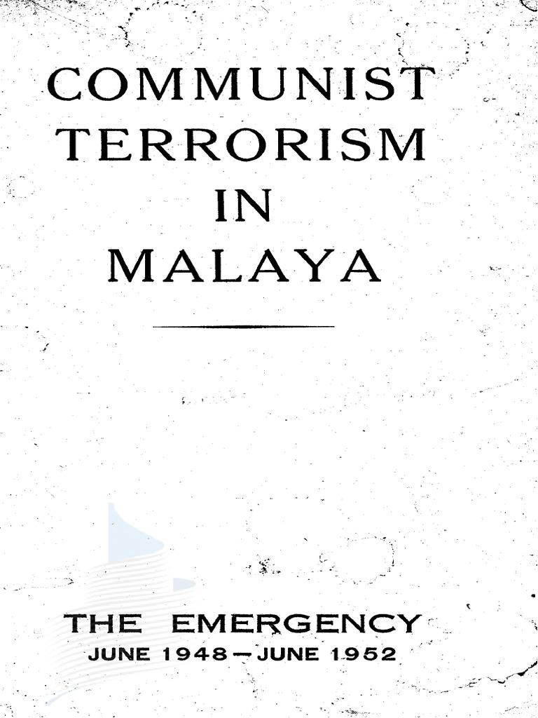 Communist Terrorism In Malaysia Police Tendencies Caps Black Way Of Life Cap Hitam