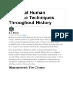 14 Brutal Human Sacrifice Techniques Throughout History