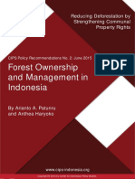 Forest Ownership and Management in Indonesia Reducing Deforestation by Strengthening Communal Property Rights