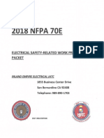 70E NFPA 2018 Handout | Personal Protective Equipment | Electricity