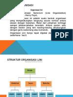 bentuk Organisasi LINI