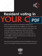 Resident voting in The City of London