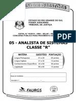Faurgs 2014 Tj Rs Analista de Sistema Prova