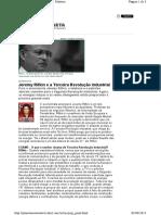 Jeremy Rifkin e a Terceira Revolução Industrial