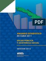 Anuario Estadístico de Cuba Salud Pública y Asistencia Social