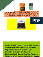 55063289 La Critica de Arte Como Genero Periodistico