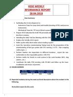 Model for HSSE Report