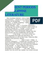 Different Periods of Philippine Literature