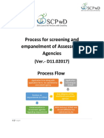 SCPwD Process for Screening and Empanelment of AB - Ver.- D11.02017