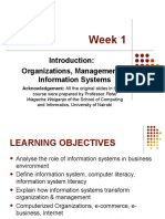 Week 1 Intro - Orgs, Management & Info Systems