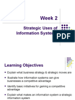 Week 2- Strategic Uses of Info. Systems
