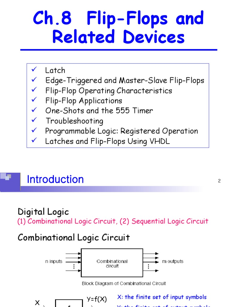 Ch8 Flip Flops And Related Devices Vhdl Computer Hardware Master Logic Diagram