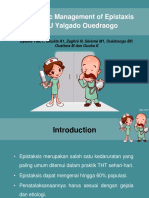 Jurding Epistaksis CHU Yalgado Ouedraogo