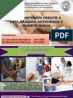 Act. Profesional Frente a La Declaracion Anticipada y Muerte Digna