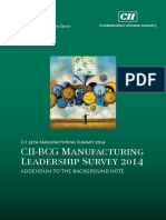 BCG Manufacturing Leadership Survey 2014 - 13th Manufacturing Survey 2014