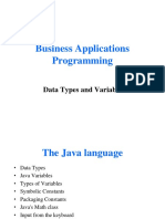 BAP_Lec2Data Types and Variable