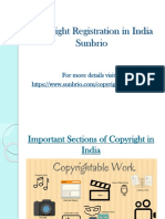 Important Sections of Copyright in India