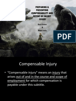 Matt Lewis Law Preparing & Presenting Compensability & Extent of Injury Issues