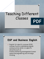 Teaching Different Classes