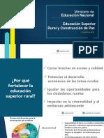 1. Educación Superior Rural y Construcción de Paz