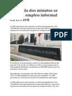 Empleo Informal en El Peru