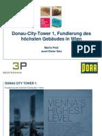 Donau City Tower 1 Fundierung Des Hoechsten Gebaeudes in Wien