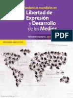 Tendencias Mundiales en Libertad de Expresión y Desarrollo de Los Medios