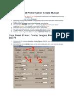 Cara Reset Printer Cnon IP 2770