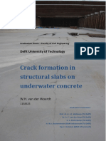 Crack Formation in Structural Slabs on Underwater Concrete