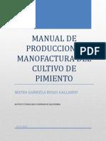 Manual de Produccion y Manofactura Del Cultivo de Pimiento