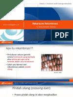 Rekombinasi Transposisi Dan Teknologi DNA Rekombinan Pertemuan Ke 14