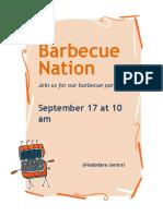 BBQ Invitation Flyer