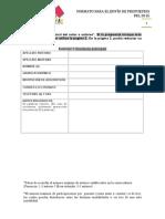 Formato Envio Propuestas FEL Espanol 2015