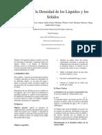 Medida de La Densidad de Los Líquidos y Los Sólidos (2) Laboratorio