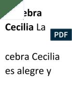 La Cebra Cecilia