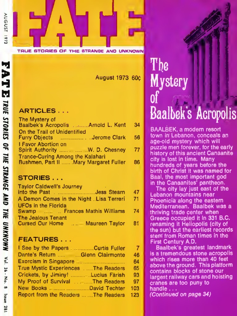 Fate Magazine 40 v40n40 Aug 40   Witchcraft   Body, Mind, & Spirit