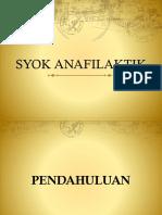 PPT Syok Anafilaktik