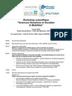Programme Workshop SHS Mobilités
