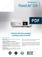 Folleto Epson PowerLite S39
