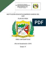 Matematicas Grado Quinto