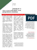Jurisprudencia Colombiana Por Igual Trabajo Igual Salario