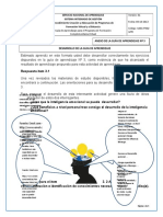 Trbajo Semana 3 Desarrollo de La Inteligencia Emocional en Lo Personal y Laboral