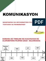 Komunikasyon Ortograpiyang Filipino