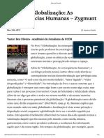 Www.benoliveira.com 2012 05 Resenha Globalizacao as Consequencias