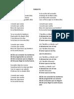 Farolito Letra